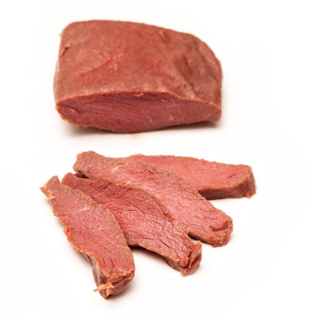 Ostrich meat for jerky